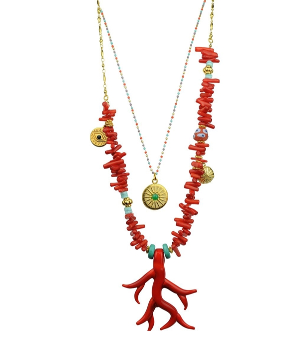 Melissa Murano Red Necklace