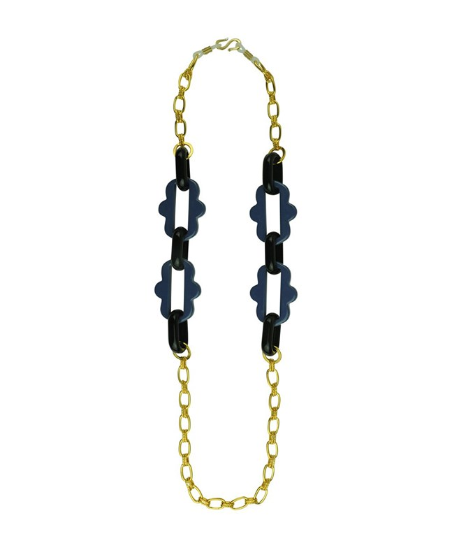 Frames Black Blue Acrylic Chain Katerina Psoma NECKLACES