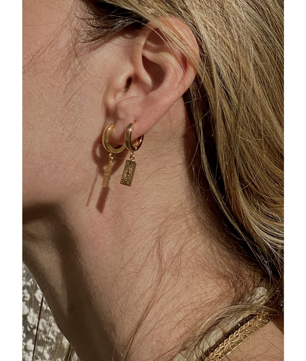 Delian Small Gold-plated Silver Slip On Earrings