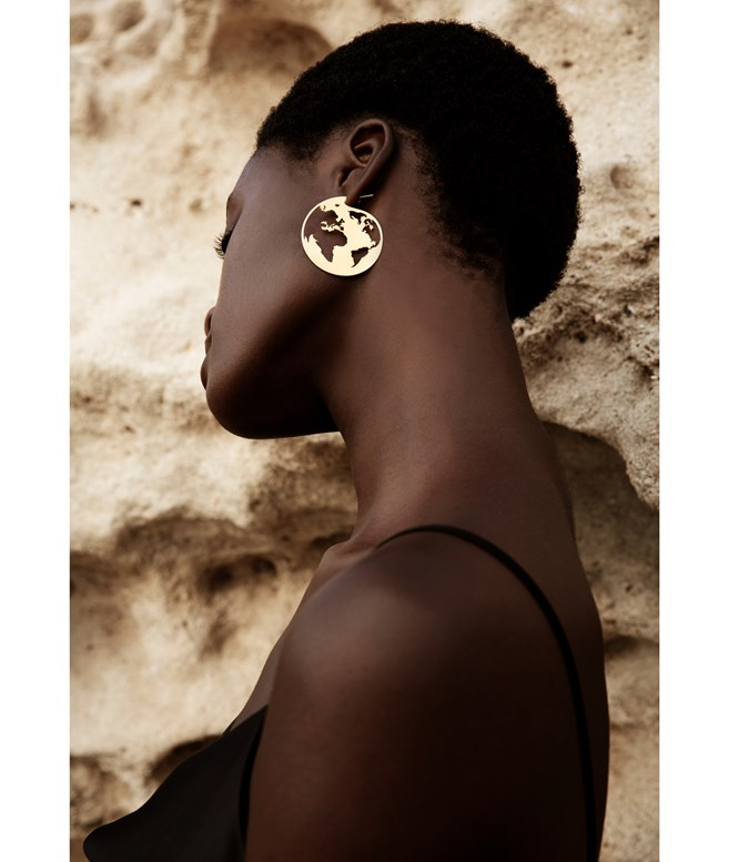 Cosmos Hoop Gold-plated Silver Earrings Antonia Karra EARRINGS