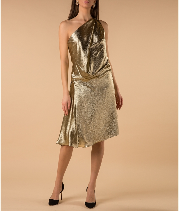Gold Silk Lame Dress