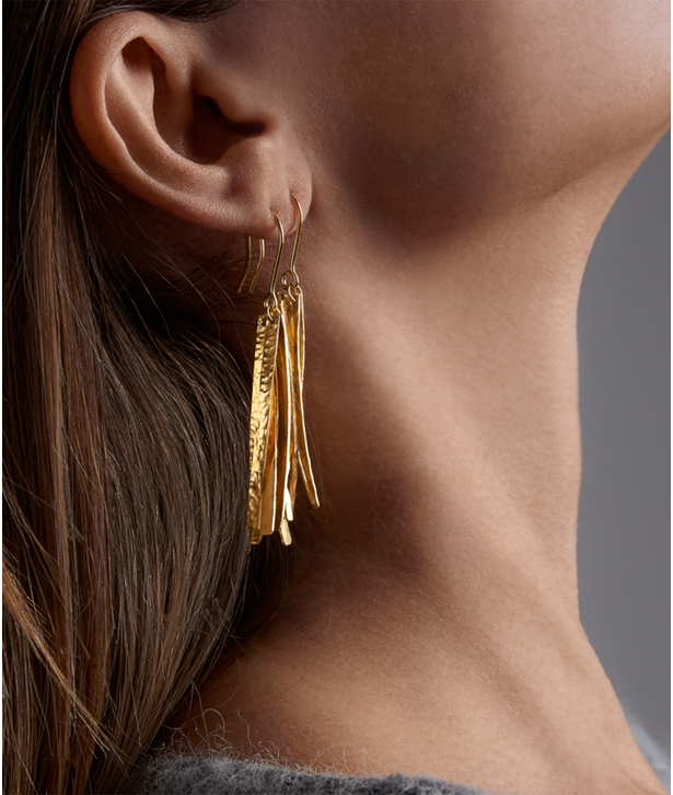 Gold-plated Silver Fide Earrings