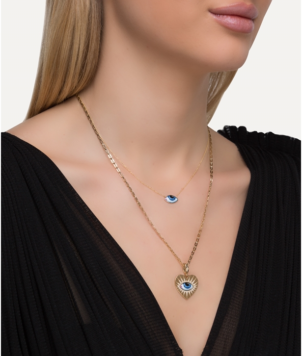 Gold Petit Bleu Necklace