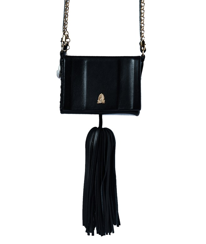 Black Leather Attiki Tiny Bag Zeus+Dione SHOULDER BAGS