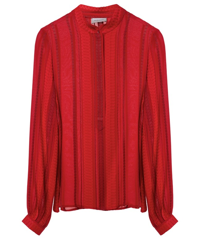 Red Silk Hera Blouse Zeus+Dione TOPS