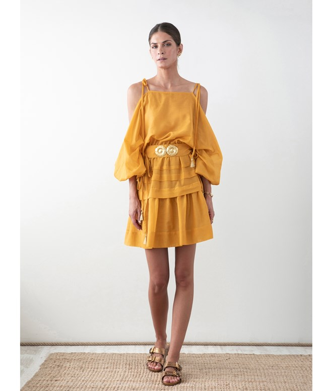 Amber Cotton Silk Ploes Mini Dress Ancient Kallos ΝΕΑ ΠΡΟΙΟΝΤΑ