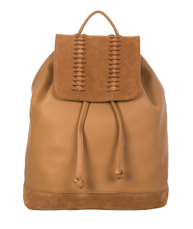 Caramel Suede Leather City Backpack Park House BACKPACKS