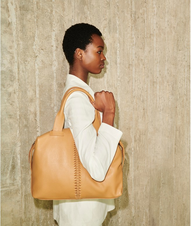 Caramel Leather Buggy Bag Park House TOTE BAGS