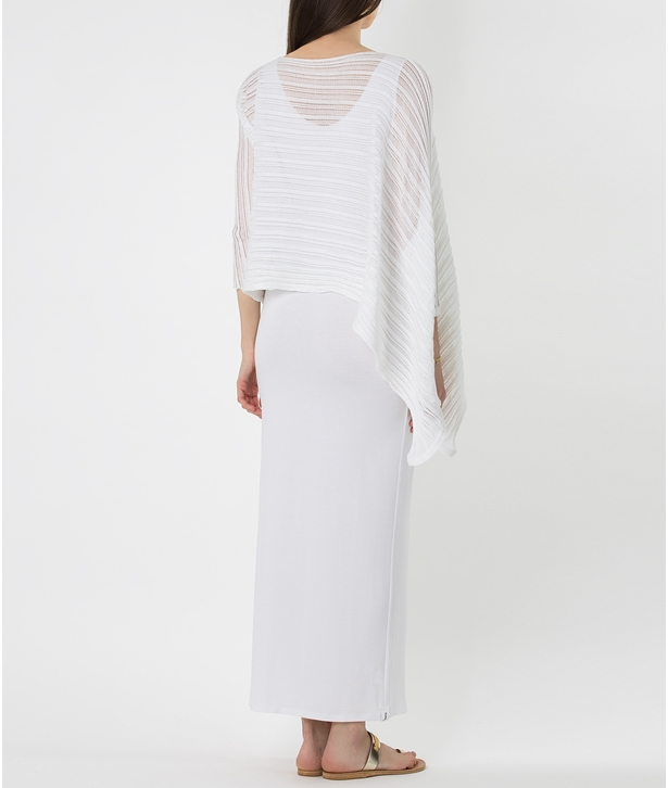 White Knitted Cotton Archetypes Panel Top
