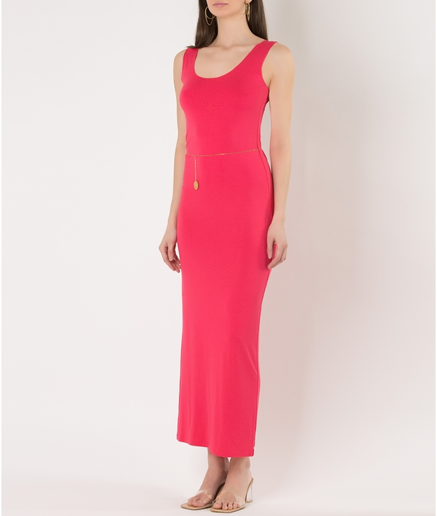 Pink Eco Vital Sleeveless Long Dress