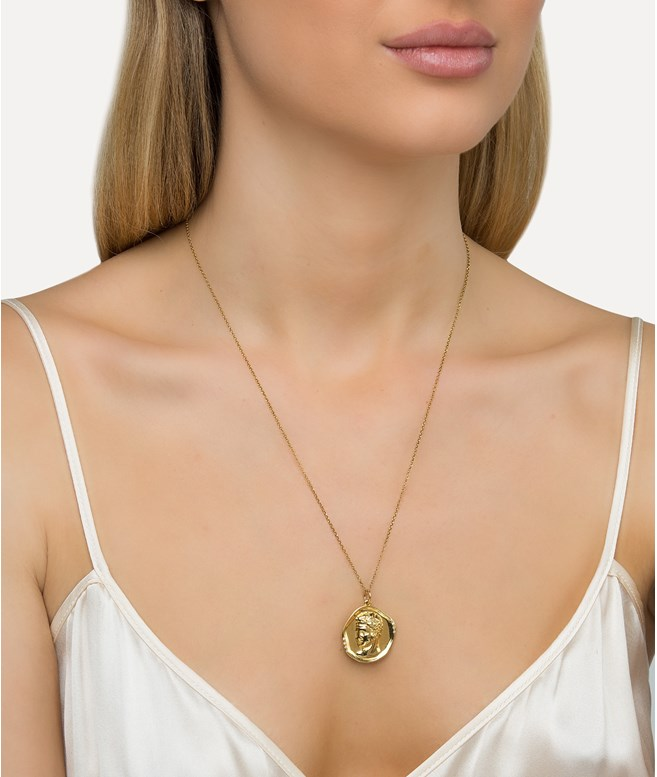 Hermis Lustre Gold-plated Silver Necklace  Hermina Athens NECKLACES