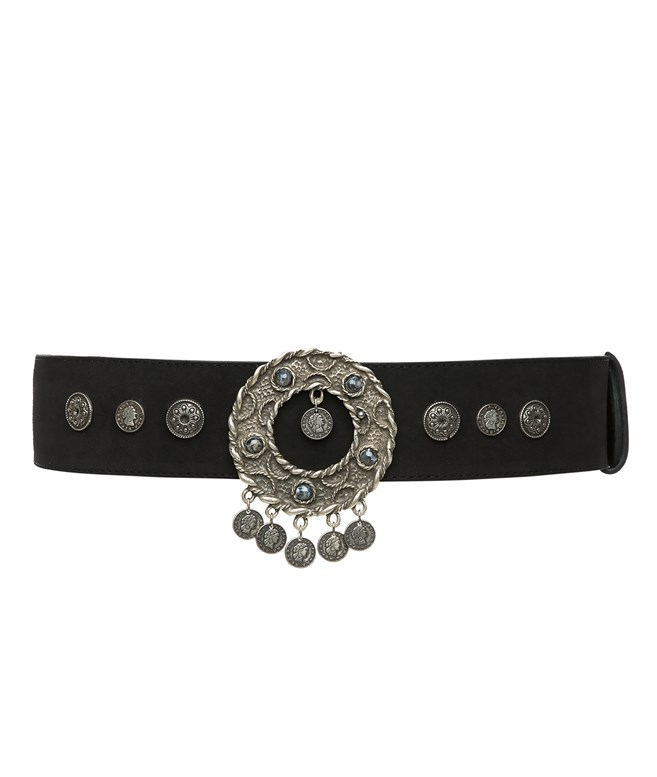 Black Odette Belt  Vassia Kostara NEW