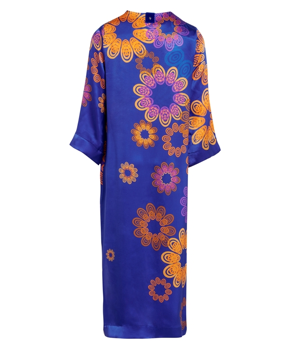 Midnight Blue Silk Kyklos Sunset Tunic