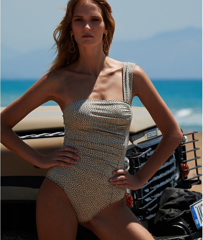 Cream Phoebe Swimsuit Sophie Deloudi NEW